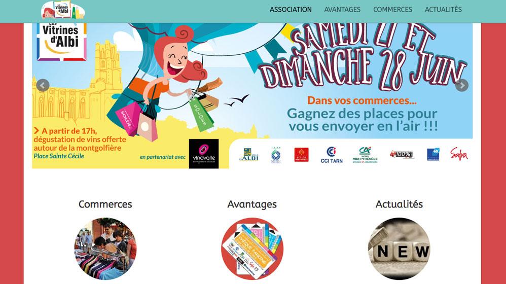 Site web des Vitrines d'Albi