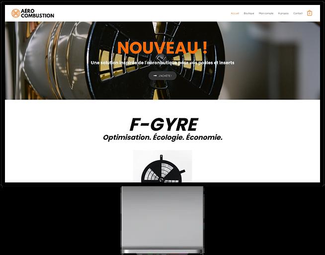 Site e-commerce de Aéro Combustion