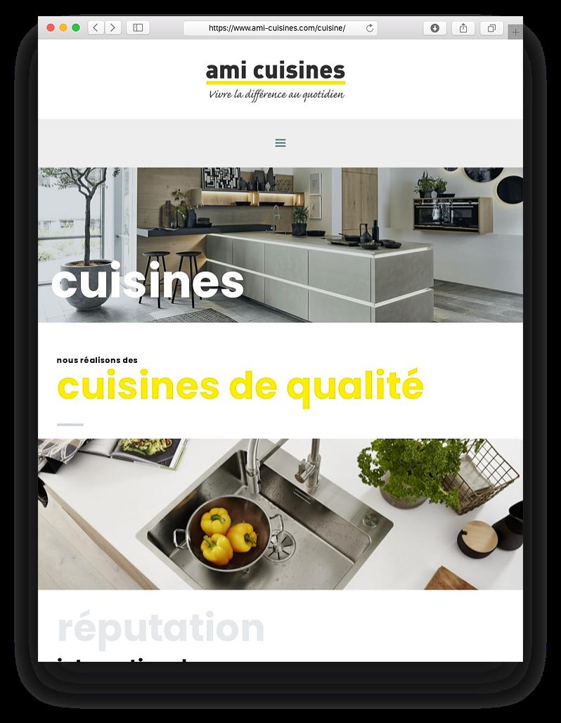 Site internet pour entreprise de cuisine et aménagement