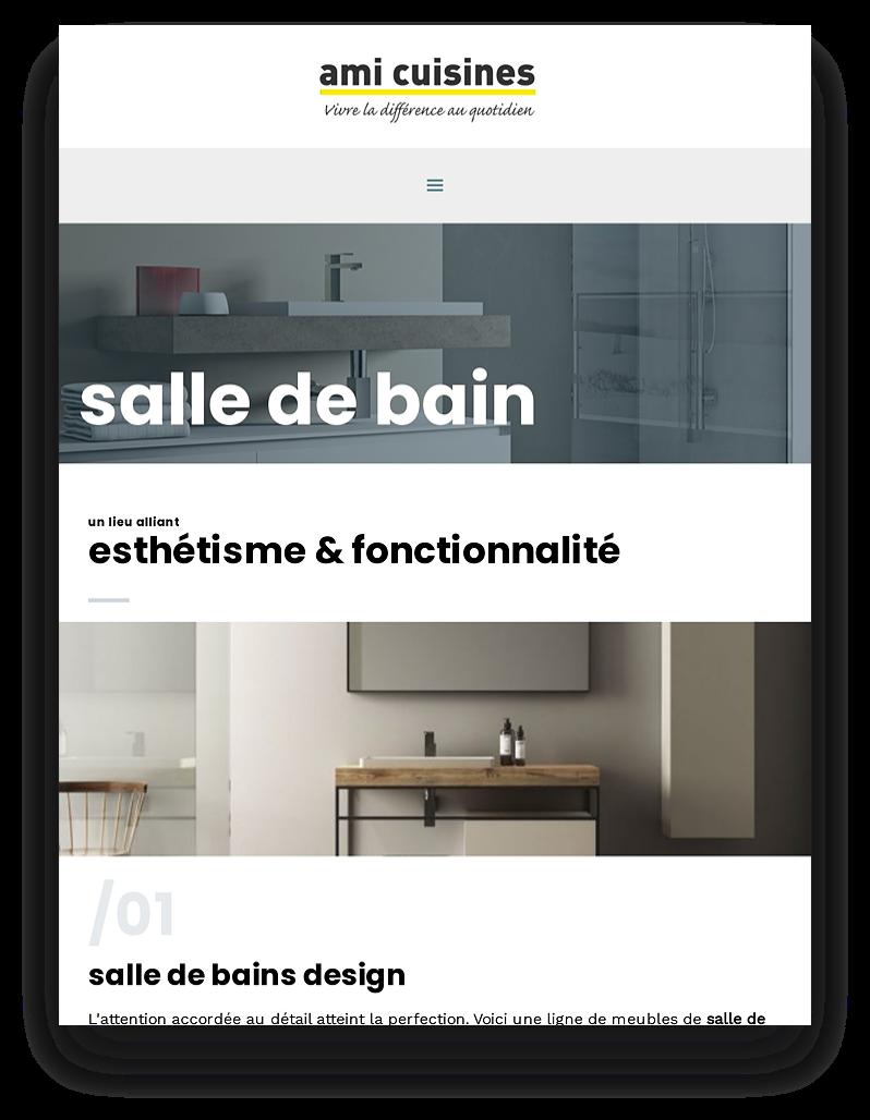 Site internet pour boutique de cuisines et design d'espace à Albi, Tarn