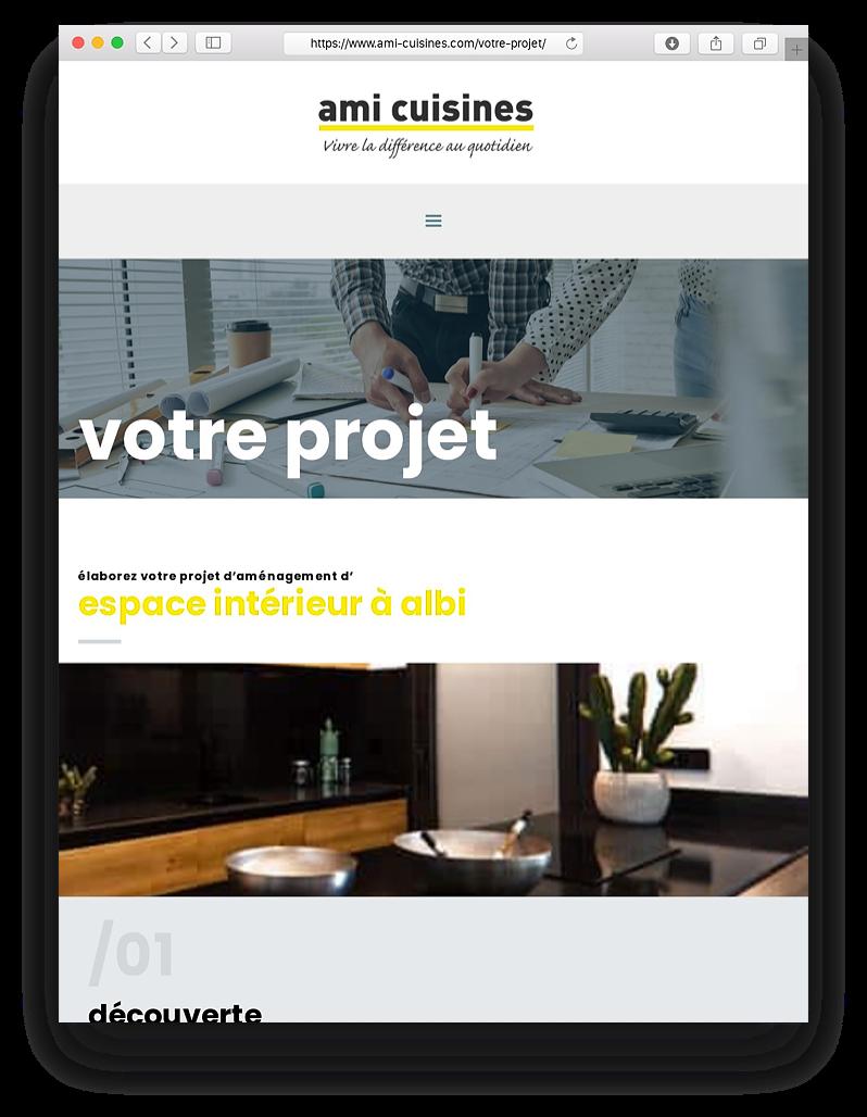 Site web de présentation pour vendeur de cuisines à Albi, Tarn